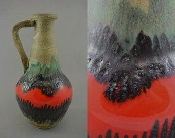 Vintage vase made by Bay / 67 30 / Fat Lava | West German Pottery | 60s