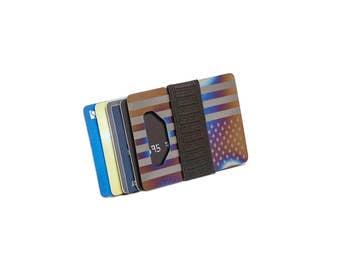 Minimalist wallet, credit card wallet, mens wallet, womens wallet, titanium wallet, slim wallet, mens gift, metal wallet