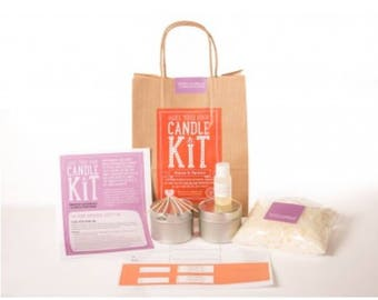 Craft kit - make your own candle - mimosa and Mandarin - gift