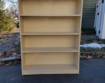 Hand Painted Distressed Antique Bookshelf - LOCAL PICKUP/DELIVERY Only