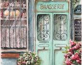 Original Watercolor - Singapore Bistro