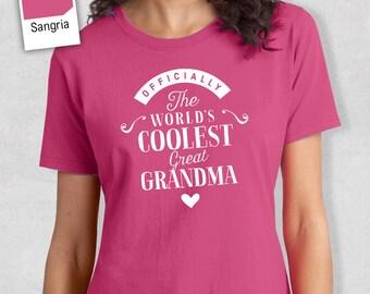 Cool Great Grandma, Great Grandma Gift, Great Grandma T-shirt, World's Coolest Great Grandma Shirt, Birthday Gift For Great Grandma