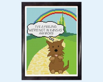 I've a feeling we're not in Kansas anymore - Wizard of Oz Quote - Counted Cross Stitch Kit