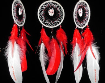 "Dreamcatcher ""Kitsune"" \ Medium Dream catcher \ attrape reves \ Traumfanger \ Acchiappasogni  \ mobile  \ Wall Hangings \ Decor fluorescent"