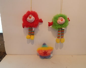 Vintage Rainbow Brite Sprite Knockoffs Ace Novelty Company Made in Korea 1984 Lot of 3 items