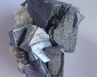 Rare Galena with Calcite , 9 september Mine Madan Bulgaria,Raw Galena Cubes Crystal with Calcite,R