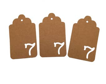 Number Seven Gift Tags