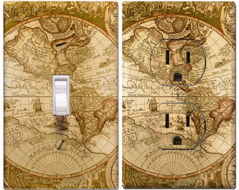 Old World Map Outlet Cover