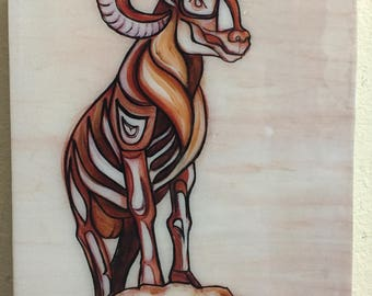 Big Horn Sheep Resin Print