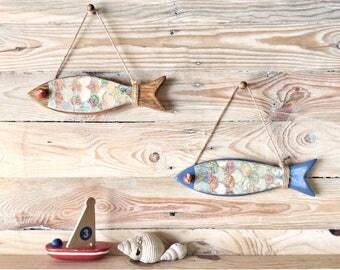 Wooden Fish Wall Decor wooden fish   etsy