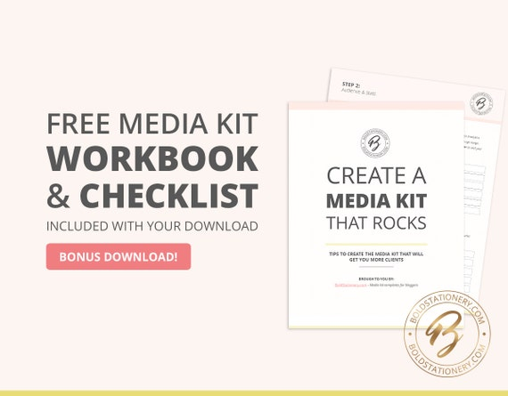 Blog Media Kit Template 09 3 Page Press Kit Pitch Kit – Press Kit Template
