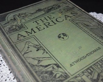 The Americas / textbook / geography / geography book / Ginn and Co. / The Earth and Its People / Book Two / school / vintage school book