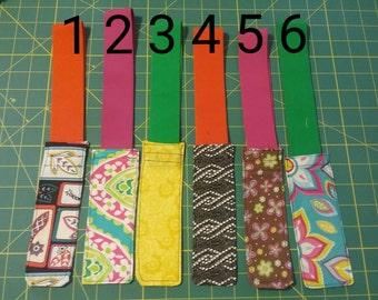 Stay Put Bookmark - Elastic Bookmark - Fabric Bookmark