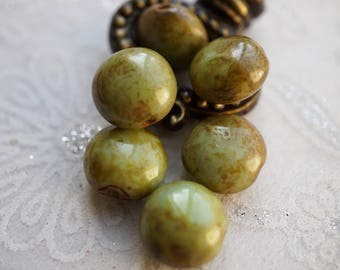 Olive Picasso, Czech Beads, Beads