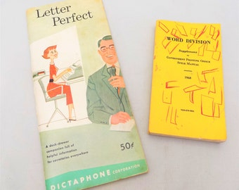 Office Dictation and Word Division Books, Dictaphone Letter Perfect, Word Division