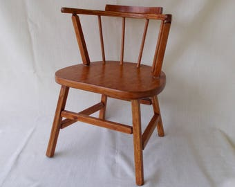 Vintage Wooden Youth Chair, Doll Chair