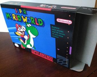 Super Mario World Super Nintendo SNES Reproduction Box! Best Repros in the world!