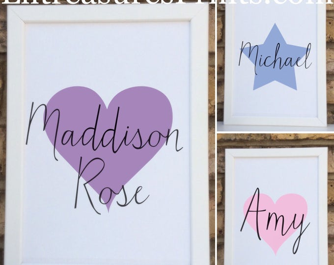 Children's Framed Print | Wall decor | Home decor | Personalised prints | Nursery decor.