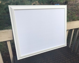large textured white fabric framed cork board or magnet board your choice fabric frames cork board or magnetic memo board bulletin board