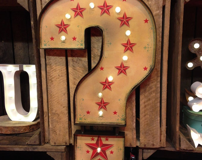 Retro QUESTION MARK Arcade Marquee LED Light