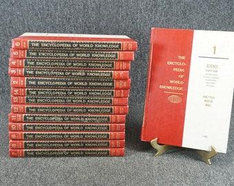 Vintage Full 14-Volume Set Encyclopedia Of World Knowledge C. 1970