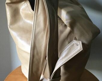 Slouchy, hobo style soft leather handbag, handmade shoulder bag. Genuine leather boho bag and great market tote bag,cross body,adjustable.