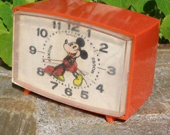 Vintage Mickey Mouse Alarm clock by Bradley
