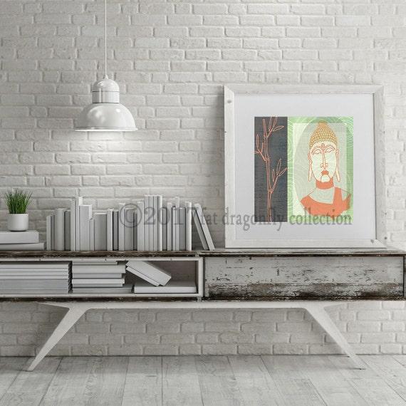 Zen Buddha Art Print Zen Home Decor Zen Wall Art Buddha