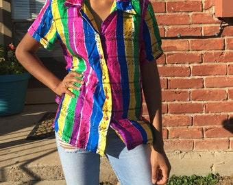 Multi Colored Silk Top