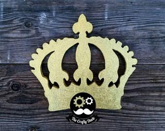 Crown glitter foam shape, foam cutouts, custom foam cutouts