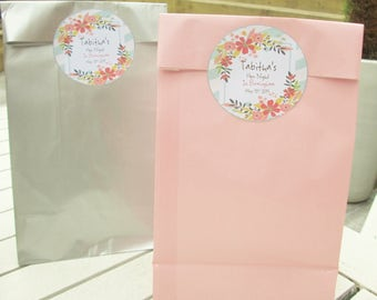 Hen Night Goody Bags & Personalised Stickers (Pack x10)