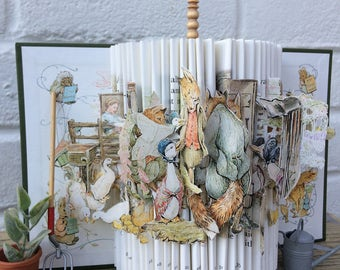 Beatrix Potters 'Tale Of Jemima Puddle-Duck' Brought to life .A Unique  Book Sculpture perfect for Nursery Decor