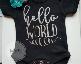 Hello World Newborn Outfit