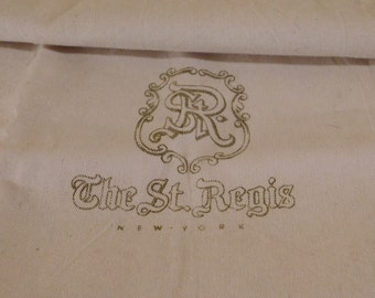 Vintage Laundry Bag St Regis Hotel New York