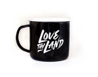 NZ enamel camp mug