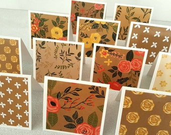 Rustic cards / mini rustic cards / rustic card set of 12 / mini rustic cards / mini cards / mini notecards set of 12