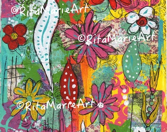 Pretty Colorful Flowers Sheet Download