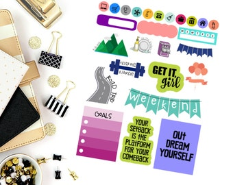 Planning Made Easy Large Sampler #2 Stickers! Perfect for your Erin Condren Life Planner, calendar, Paper Plum, Filofax!