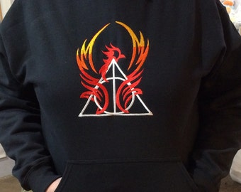 Harry Potter Embroidered Phoenix with Deathly Hallows Sweatshirt