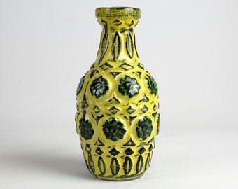 Yellow BAY ceramic vase from the 70s, west german pottery, Mid Century