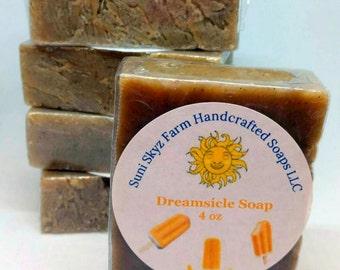 Orange Vanilla Soap - Dreamsicle Soap - Orange Soap - Vanilla Soap - Dreamsicle Handmade Soap - Orange Vanilla Handmade Soap