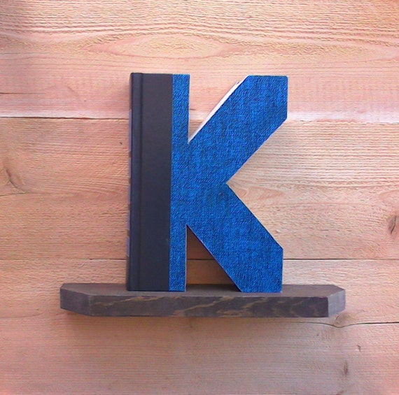 Book letter k 356ady made letters cut letter books like this item spiritdancerdesigns Images