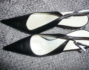 Dolce & Gabanna Shoes black  Leather  Heels made in Italy 39