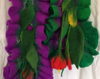 Scarf Felted wool Scarves  Woman's