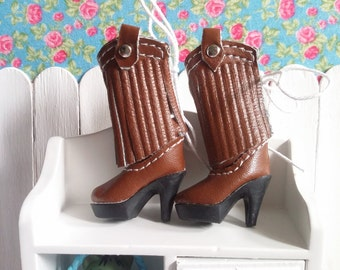 SALE * boots Brown high heel for Blythe and Pure neemo