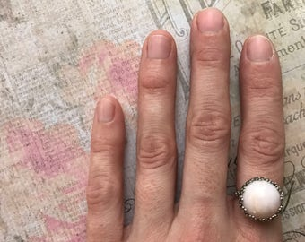 Sweet and Lovely Pink Opal Ring