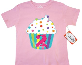 2nd Birthday cupcake Toddler T-Shirt by Inktastic