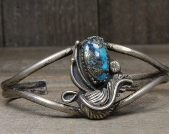 Used Sterling Silver Cuff/Bangle With Turquoise