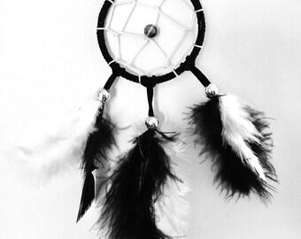 Black and white dream catcher