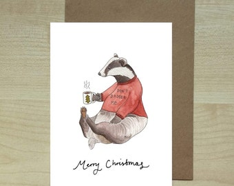 Don't Badger Me christmas card